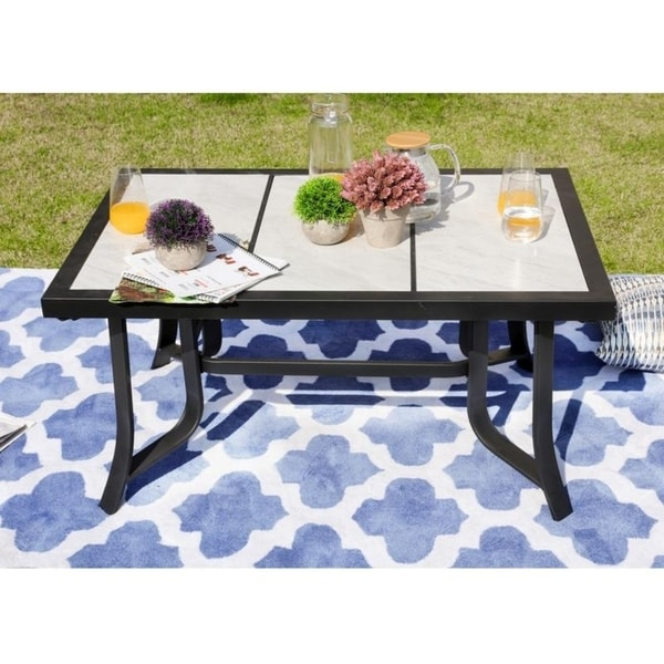 PATIO FESTIVAL ® Outdoor Tile-Top Coffee Table. Opens flyout.
