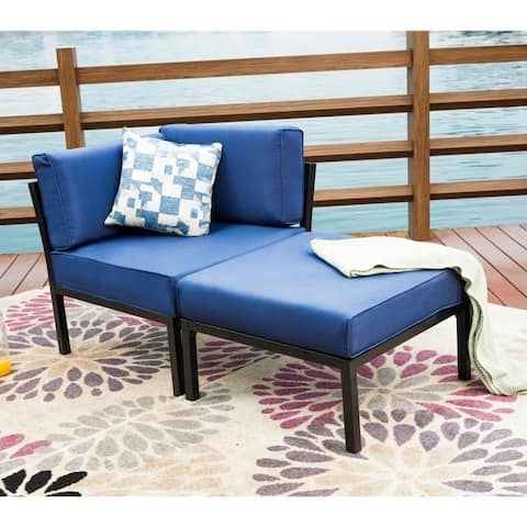 PATIO FESTIVAL 2-Piece Outdoor Sofa Seating Group with Cushions