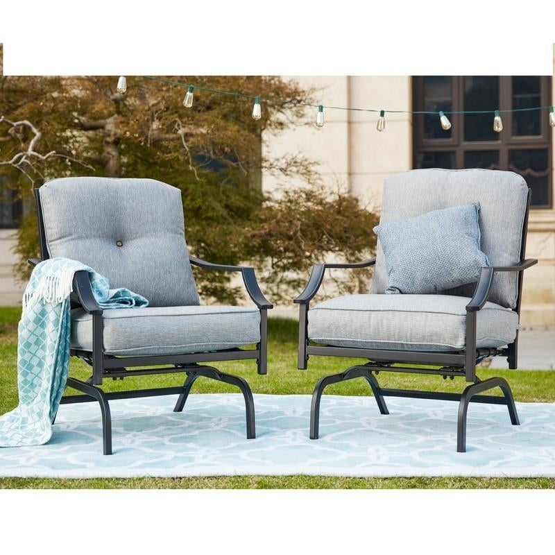PATIO FESTIVAL ® Rocking Motion Chair (2 Pack)