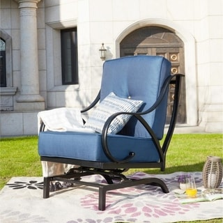 PATIO FESTIVAL ® Outdoor Rocking Motion Chair with Cushions