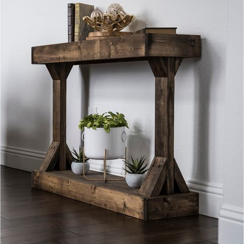 Barb Small Console Table Solid Wood by Del Hutson Designs