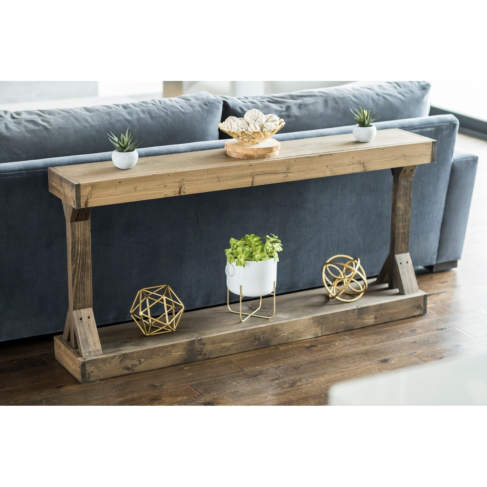 Handmade Barb Large Console Table Solid Wood