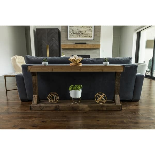 Shop Handmade Barb Large Console Table Solid Wood - Free ...