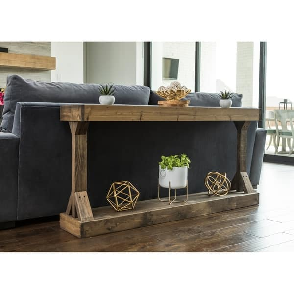 Shabby Chic Wood Sofa Table w/ Drawers | Flexsteel Plymouth ...
