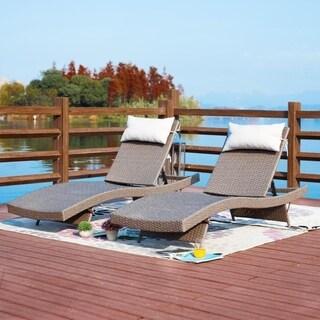 PATIO FESTIVAL ® Outdoor 2-Piece Chaise Lounger Set