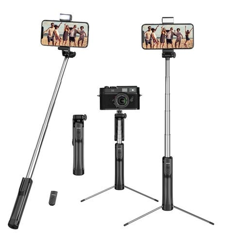 Mpow 3 in 1 Selfie Stick Tripod, Extendable Selfie Stick with Wireless Bluetooth Remote Control and Fill Light