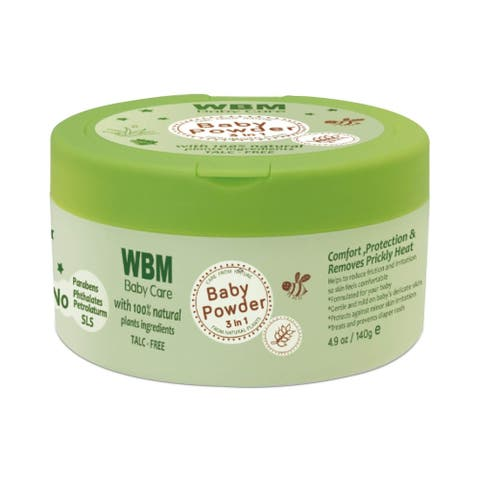 WBM Care 3 in 1 Baby Powder with Natural Ingredients - 4.9 oz - Green