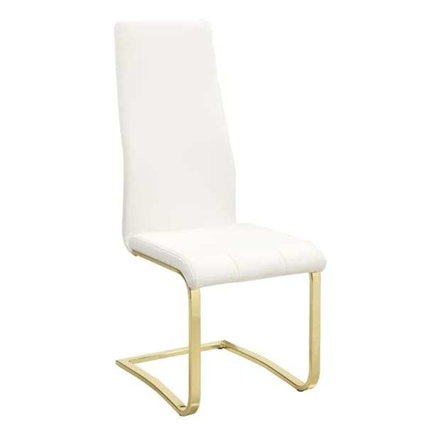 Whittingham Contemporary Fabric and Brass Side Chairs (Set of 4)