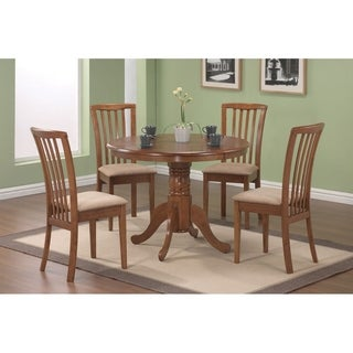 Cynthia Casual Upholstered Wood Dining Chairs (Set of 2)