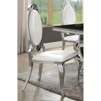 Francesca Contemporary Glam Chrome Dining Chairs (Set of 2)
