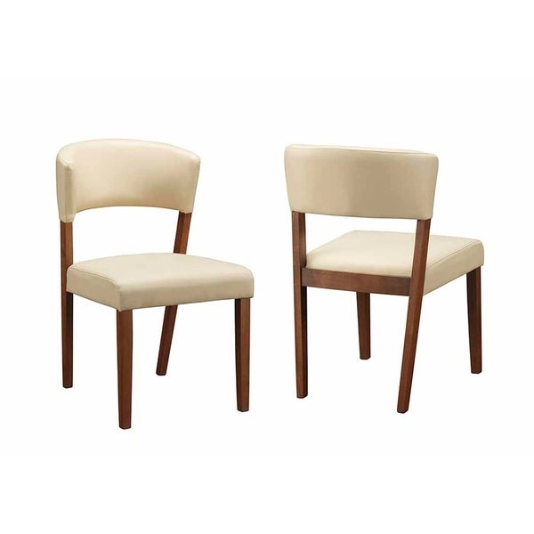Shop Wainwright Mid Century Modern Faux Leather Dining Chairs Set