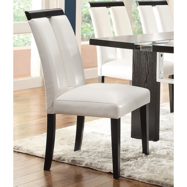 Vail Contemporary Vinyl Dining Chairs (Set of 2)