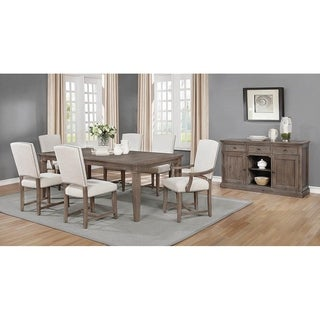 Shop Sutton Manor Distressed Oak Upholstered Side Chairs