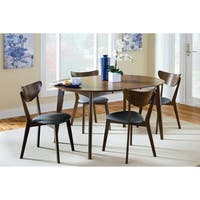 Marvin Mid-Century Modern Faux Leather Dining Chairs (Set of 2)