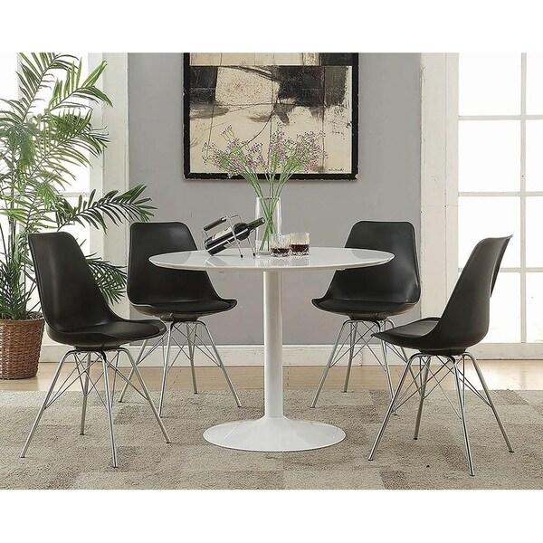Shop Joseph Mid Century Modern White Round Dining Table