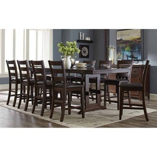 Link to Carsten Transitional Large Rectangular Counter-Height Table - Antique Tobacco - Antique Tobacco Similar Items in Dining Room & Bar Furniture