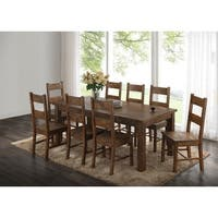 Jayson Rustic Rectangular Wood Dining Table - Rustic Golden Brown