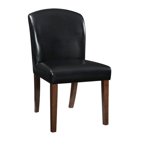 Coburn Casual Faux Leather Parsons Dining Chairs (Set of 2)