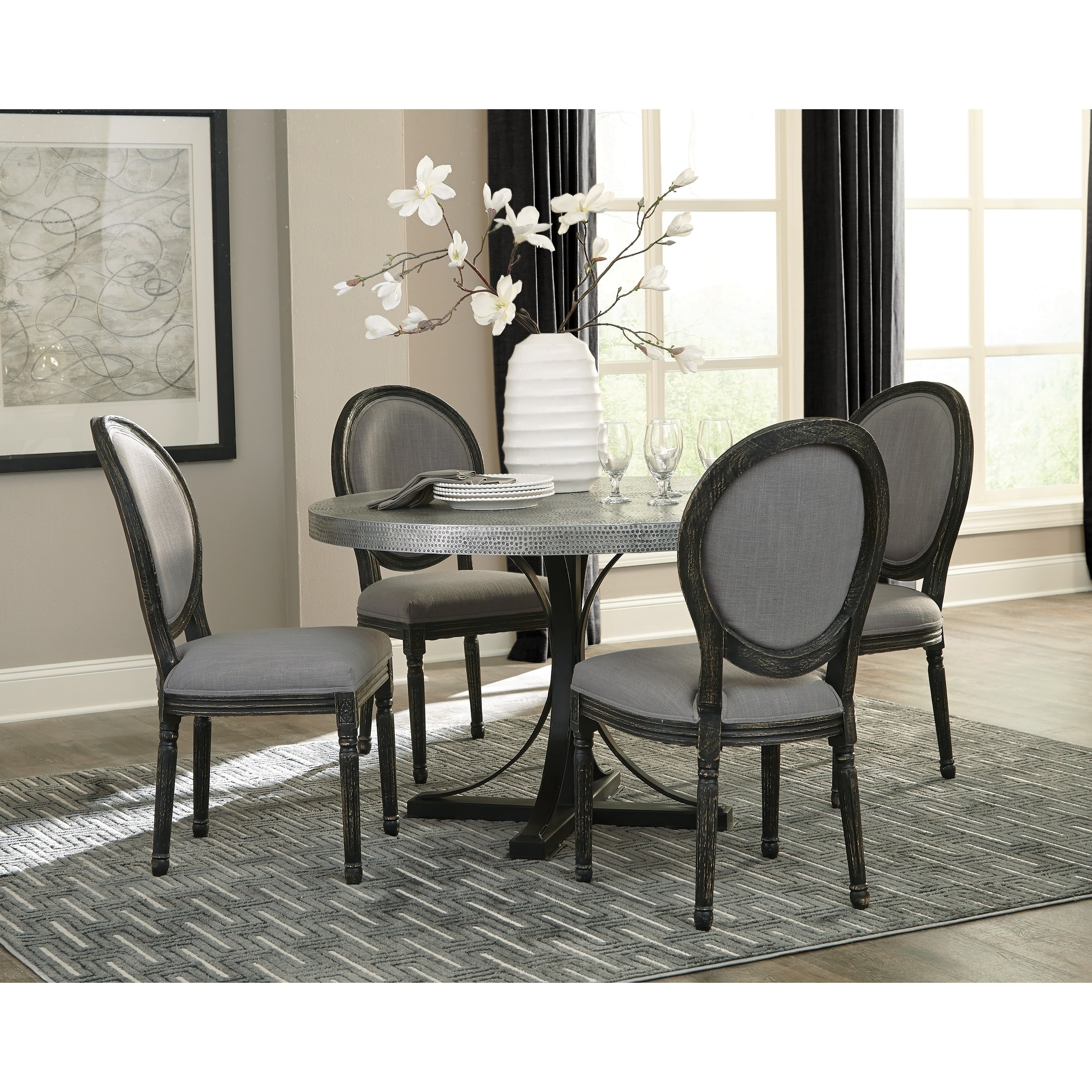 Terrific Francois Bohemian Style Oval Back Dining Chairs Set Of 2 Cjindustries Chair Design For Home Cjindustriesco