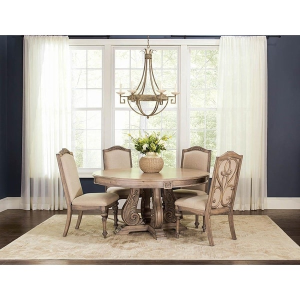 Round Formal Dining Table: Shop Elianna Traditional Round Formal Dining Table