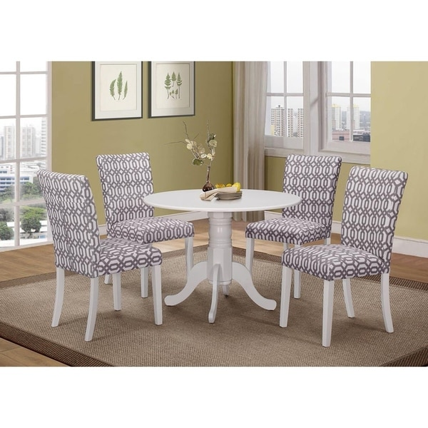 Streeter Casual Patterned Dining Chairs (Set of 2)
