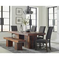 Harrington Rustic Grey Sheesham Dining Table - Grey Sheesham