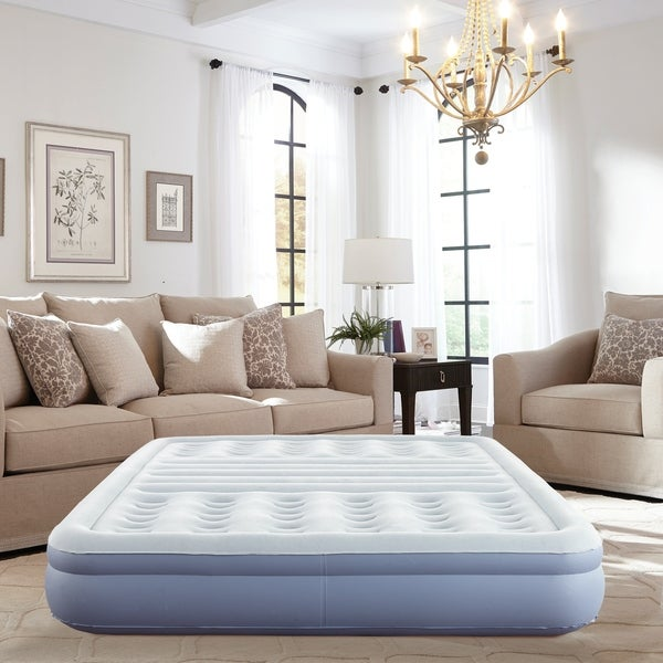 Thomasville 12-inch Queen Size Lumbar Lift Express Tri-Zone Support Raised Air Bed Mattress with Express Pump. Opens flyout.