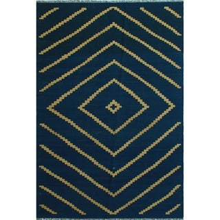 "Noori Rug Winchester Kilim Deana Blue/Ivory Rug - 5'6"" x 8'2"""