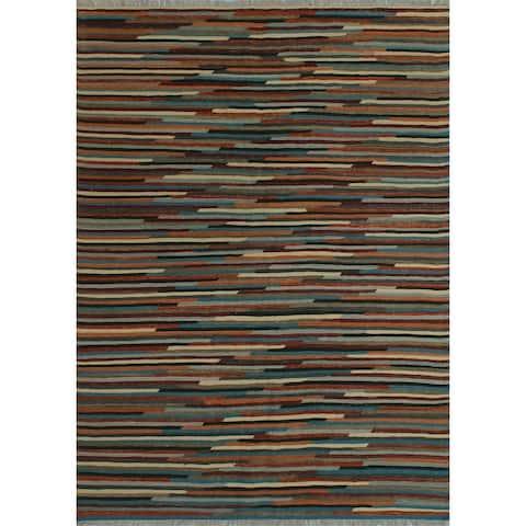 "Noori Rug Winchester Kilim Julianne Rust/Blue Rug - 4'11"" x 6'9"""