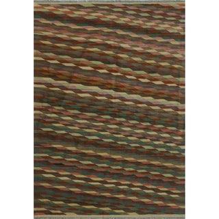 "Noori Rug Winchester Kilim Letitia Rust/Ivory Rug - 4'9"" x 6'9"""