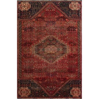 "Noori Rug Vintage Corrine Orange/Blue Rug - 5'10"" x 8'8"""
