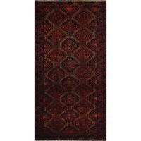"""Noori Rug Vintage Sallie Red/Black Rug - 3'1"""" x 6'0"""""""