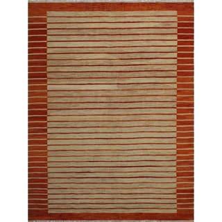"""Noori Rug Winchester Kilim Harriett Beige/Orange Rug - 9'1"""" x 11'10"""""""