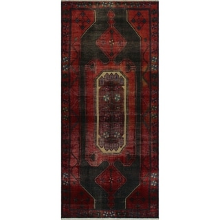"Noori Rug Vintage Sharron Red/Black Runner - 4'2"" x 9'3"""