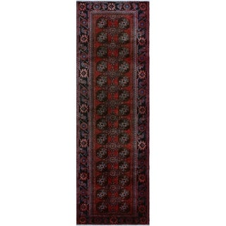 "Noori Rug Vintage Blanca Red/Black Runner - 3'5"" x 10'6"""