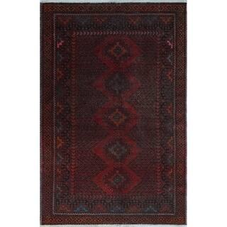"""Noori Rug Vintage Agnes Rust/Brown Rug - 4'0"""" x 6'2"""""""