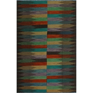 "Noori Rug Winchester Kilim Ina Brown/Orange Rug - 6'5"" x 9'8"""