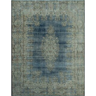 """Noori Rug Fine Vintage Cullen Blue/Beige Rug - 8'9"""" x 11'5"""""""