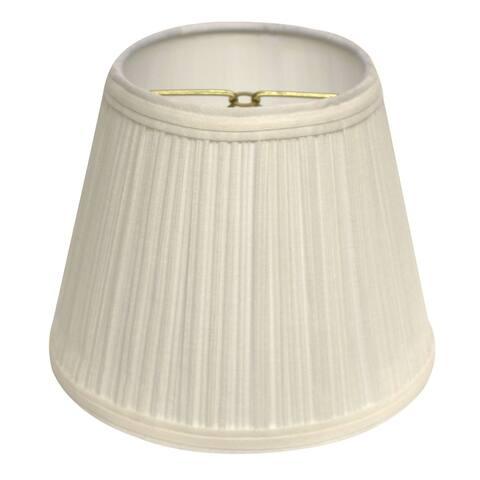 Cloth & Wire Slant Empire Hardback Lampshade with Bulb Clip, White