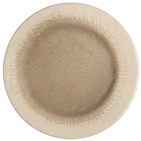 Melange 36-Piece 100% Melamine Salad Plate Set (Crackle Collection), Color Cement
