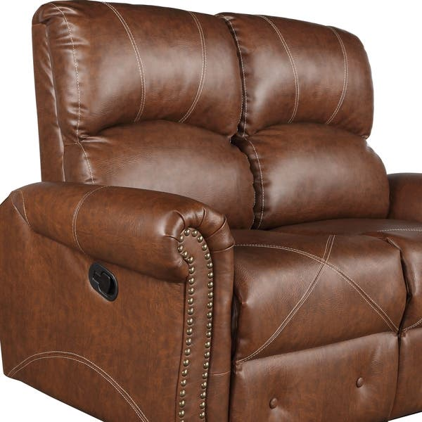 Excellent Shop Harper Bright Designs Pu Leather Recliner Sofa On Pabps2019 Chair Design Images Pabps2019Com