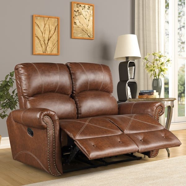 Super Shop Harper Bright Designs Pu Leather Recliner Sofa On Pabps2019 Chair Design Images Pabps2019Com