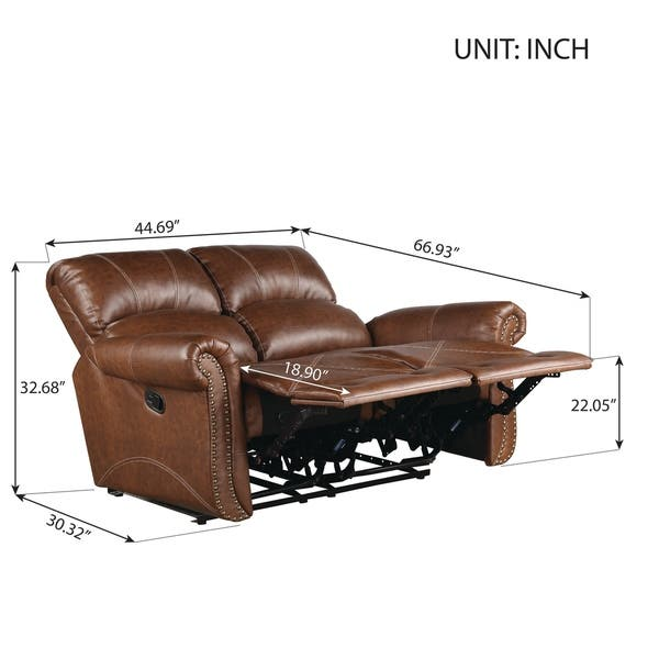 Wondrous Shop Harper Bright Designs Pu Leather Recliner Sofa On Pabps2019 Chair Design Images Pabps2019Com