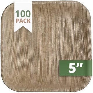 Link to CaterEco 5-inch Square Palm Leaf Plates Set (100 Pack)  Similar Items in Dinnerware