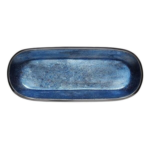 Shop Melange Home Decor Rectangle Tray Platter 14 Inch Bowl Color