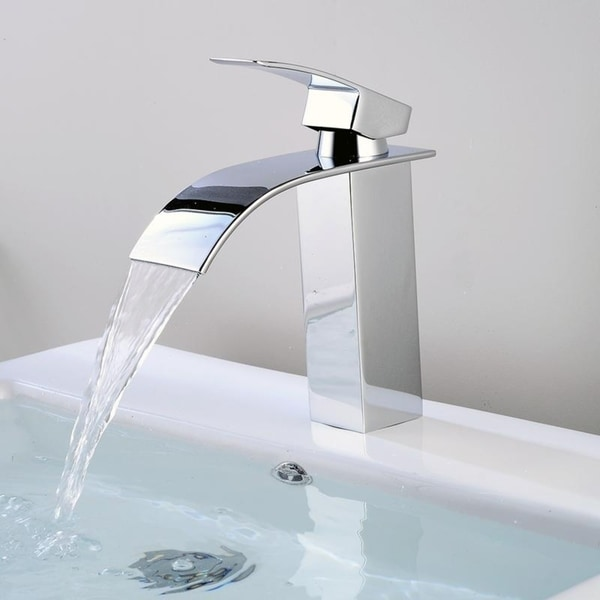 Modern Bathroom Sink Faucet Single Handle Long Spout Mixer Tap Lead Free