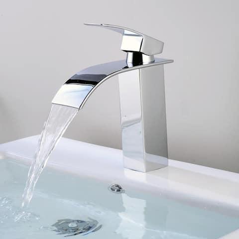 Bathroom Sink Faucet Long Spout Mixer Tap Lead-Free