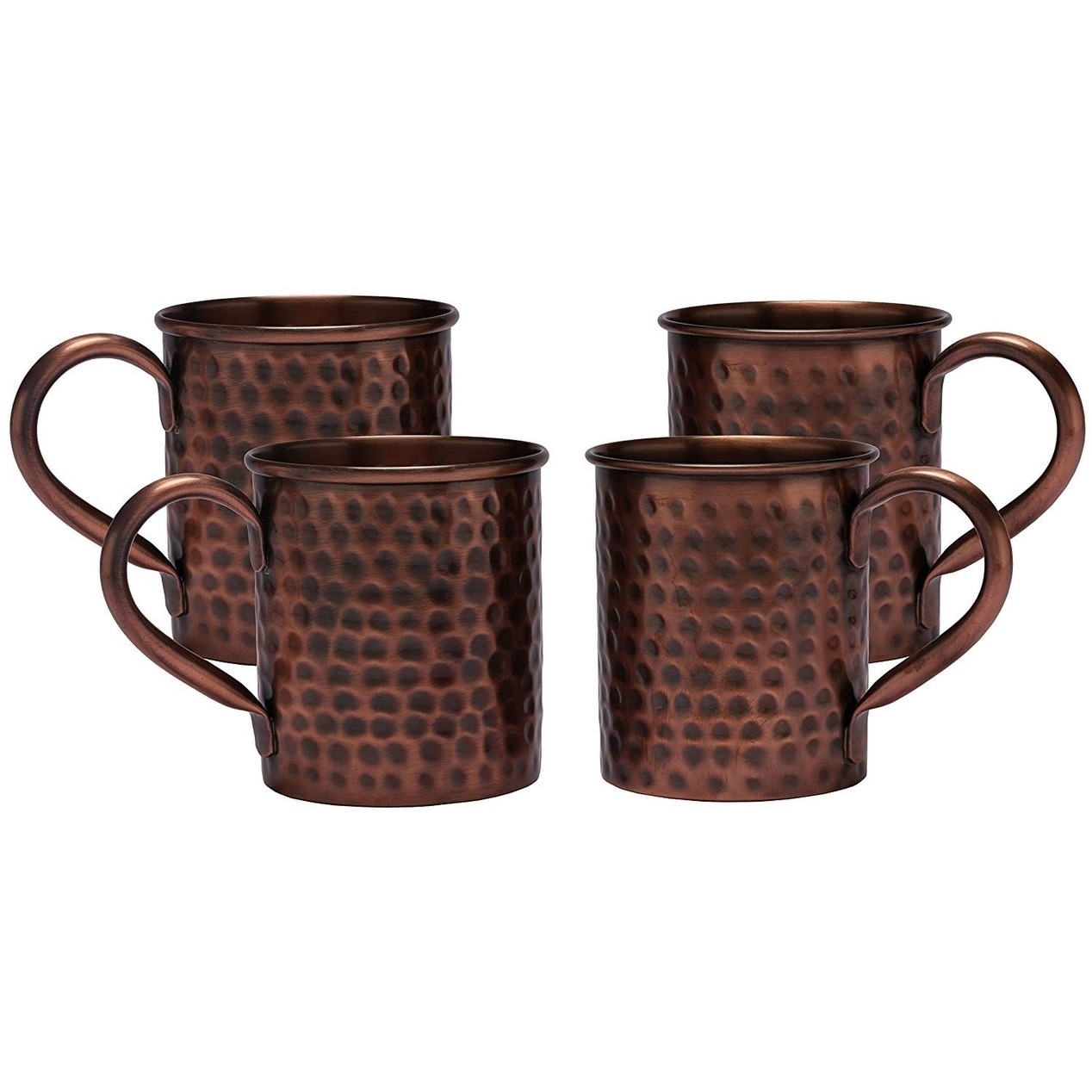 Melange Set Of 4 Antique Finish 24 Oz Copper Classic Mug For Moscow Mules 100 Pure Hammered Copper Overstock 27267910