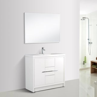 Eviva Grace 48 in. White Vanity with Countertop