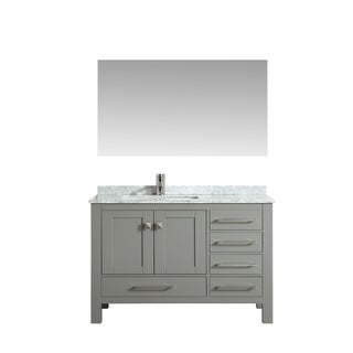 Eviva London 38 in. Transitional Gray vanity